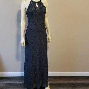 OutRage formal black Sparkle dress long 8